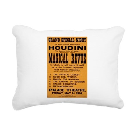 Houdini Magical Revue Rectangular Canvas Pillow