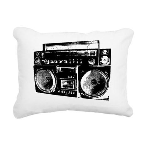 BoomBox 2 Rectangular Canvas Pillow