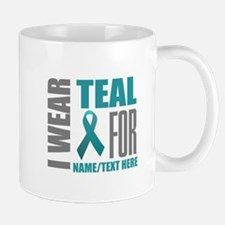 Teal Awareness Ribbon Customized Mug