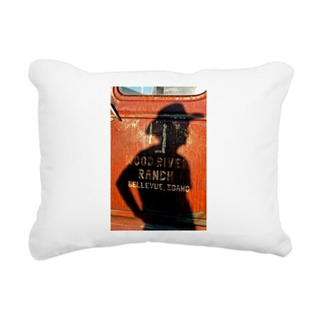 Chev with Shadow Rectangular Canvas Pillow
