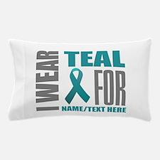 Teal Awareness Ribbon Customized Pillow Case