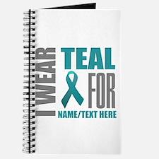 Teal Awareness Ribbon Customized Journal