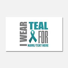 Teal Awareness Ribbon Customize Car Magnet 20 x 12