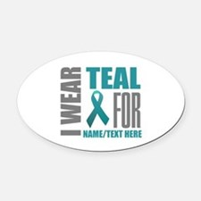 Cervical Cancer Awareness Car Magnets Personalized Cervical - Custom awareness car magnet