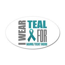 Teal Awareness Ribbon Custom Wall Decal