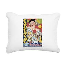 1937 Carnaval Panama Rectangular Canvas Pillow
