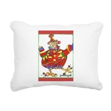 Clown Chicken Rectangular Canvas Pillow