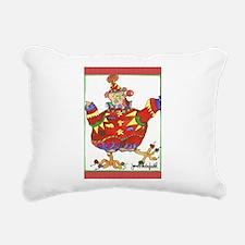 Clown Chicken Rectangular Canvas Pillow