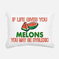 Dyslexic Melons Rectangular Canvas Pillow