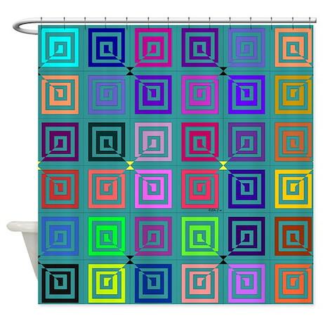 Big Square Shower Curtain