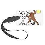 Moon A Werewolf Large Luggage Tag