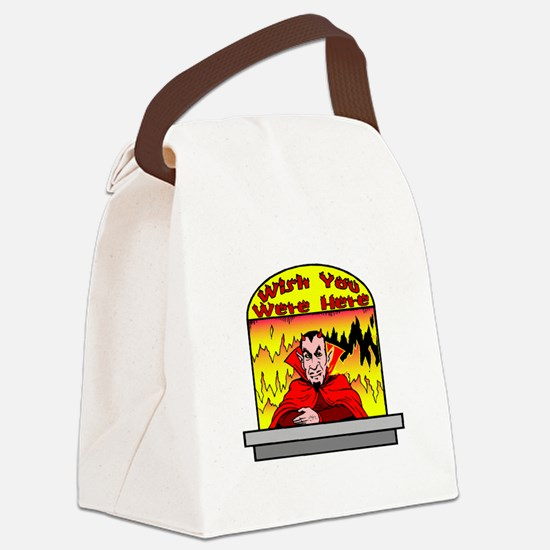 Wish You Were Canvas Lunch Bag