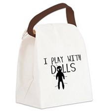 Play With Dolls Canvas Lunch Bag