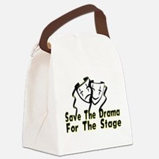Save The Drama Canvas Lunch Bag
