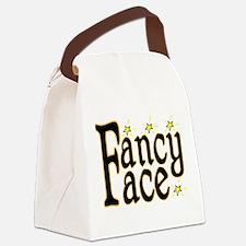Fancy Face Canvas Lunch Bag