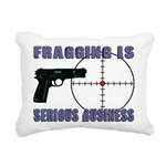 Serious Fragging Rectangular Canvas Pillow