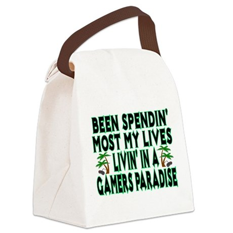 Gamers Paradise Canvas Lunch Bag