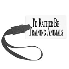 Rather Train Animals Luggage Tag