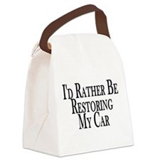 Rather Restore Car Canvas Lunch Bag