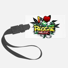 I Heart Reggae Music Luggage Tag