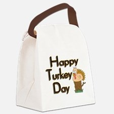 Happy Turkey Day Canvas Lunch Bag