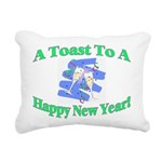 New Year's Toast Rectangular Canvas Pillow