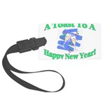 New Year's Toast Large Luggage Tag