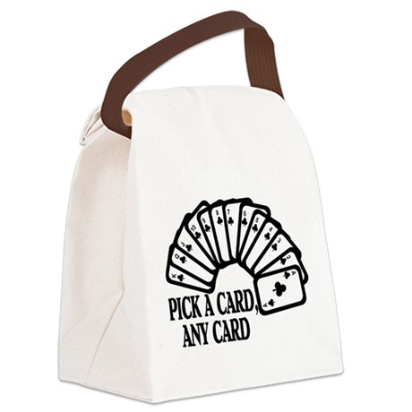 Pick A Card Canvas Lunch Bag