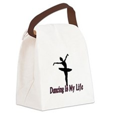 Dancing Life Canvas Lunch Bag