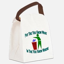 You Know Where Canvas Lunch Bag