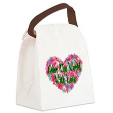 Color The World Canvas Lunch Bag