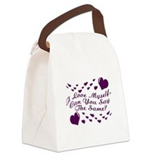 I Love Myself Canvas Lunch Bag