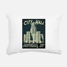 Buffalo City Hall Rectangular Canvas Pillow