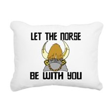 Norse Be With You Rectangular Canvas Pillow