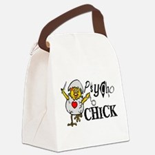 Psycho Chick Canvas Lunch Bag
