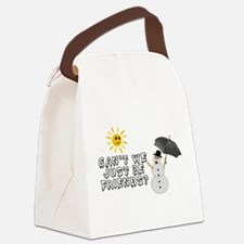 Just Be Friends Canvas Lunch Bag
