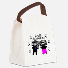 Radio Romance Canvas Lunch Bag