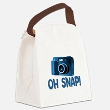 Oh Snap Camera Canvas Lunch Bag