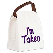 I'm Taken Canvas Lunch Bag