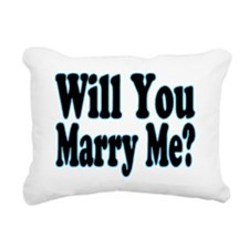 Will You Marry Me? His Rectangular Canvas Pillow