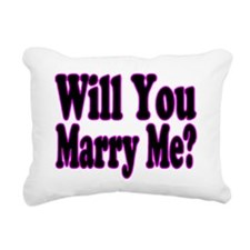 Funny Will you marry me Rectangular Canvas Pillow