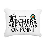 Archers On Point Rectangular Canvas Pillow