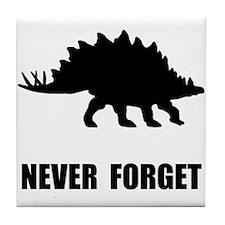 Never Forget Dinosaur Tile Coaster