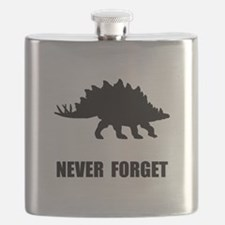 Never Forget Dinosaur Flask