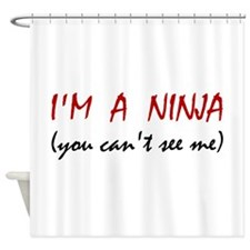 Ninja Can't See Me Shower Curtain