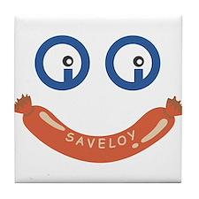 Oi Oi Saveloy ! Tile Coaster