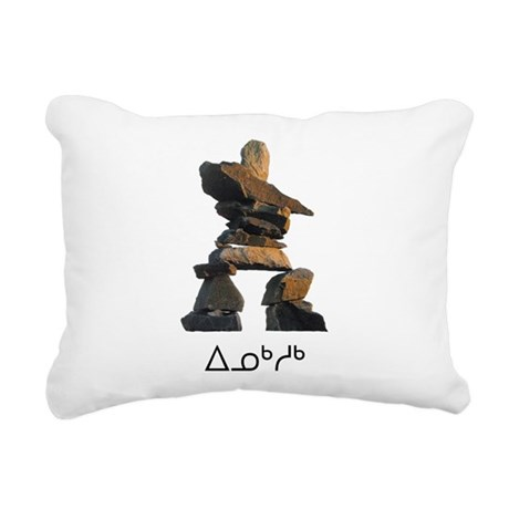 Inukshuk Rectangular Canvas Pillow