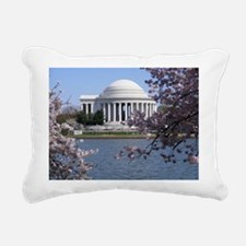 Cute Cherry blossom in dc Rectangular Canvas Pillow