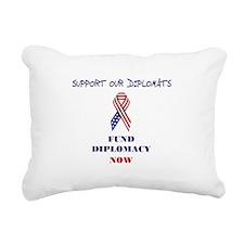 Diplomatic Pickle Rectangular Canvas Pillow