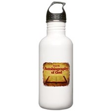 Autobiography of God Water Bottle